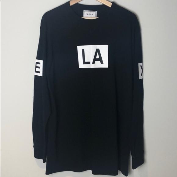 WCSP Long Sleeve LA Shirt Black Size XL